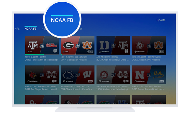 Watch NCAA College Football Games Live Online | Hulu
